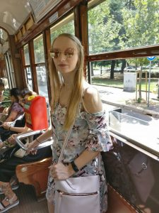 What we did in Milan - Me on the tram