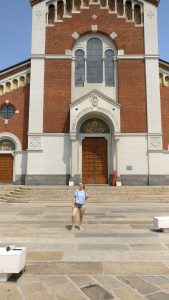 What we did in Milan - Me in front of Parrochia San Pietro In Sala