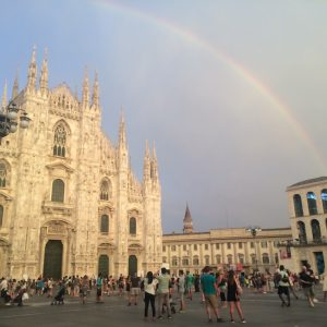 What we did in Milan - The domo and a rainbow