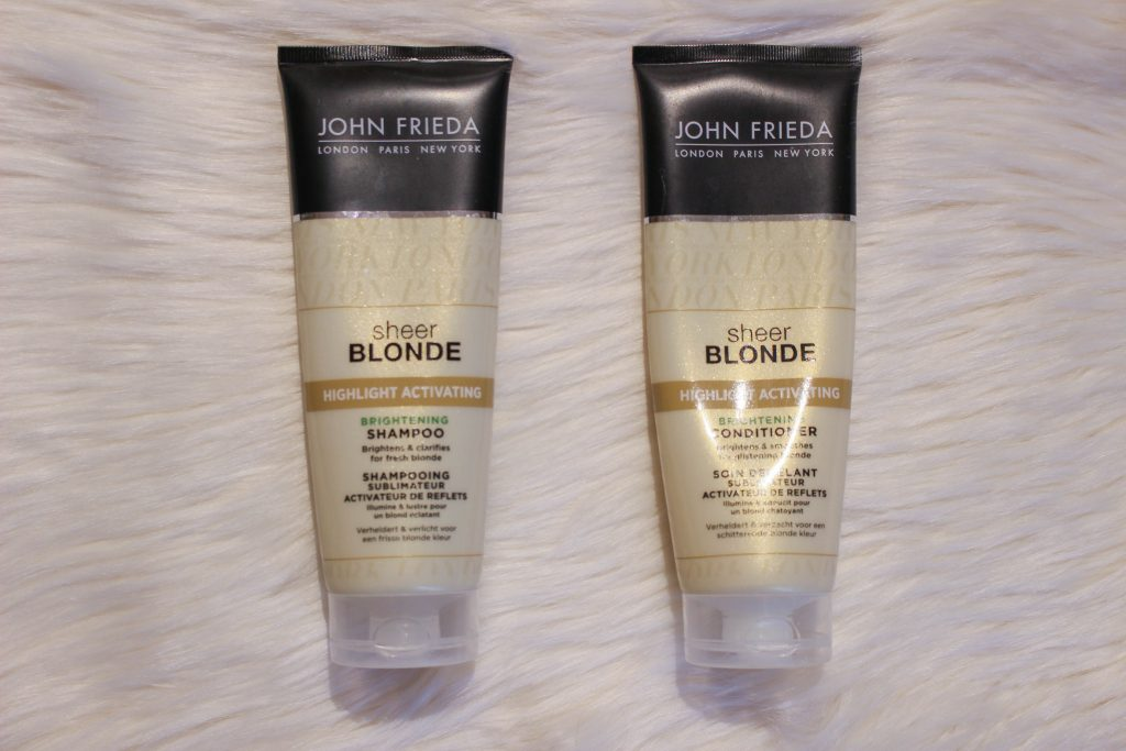 My haircare routine: John Friede blonde shampoo and conditioner