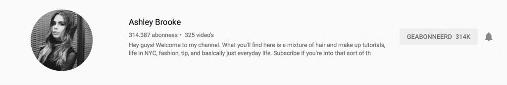 YouTubers I recently followed: Ashley Brooke