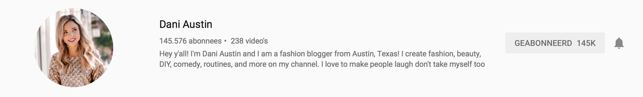 YouTubers I recently followed: Dani Austin