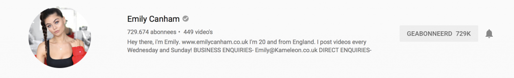 YouTubers I recently followed: Emily Canham