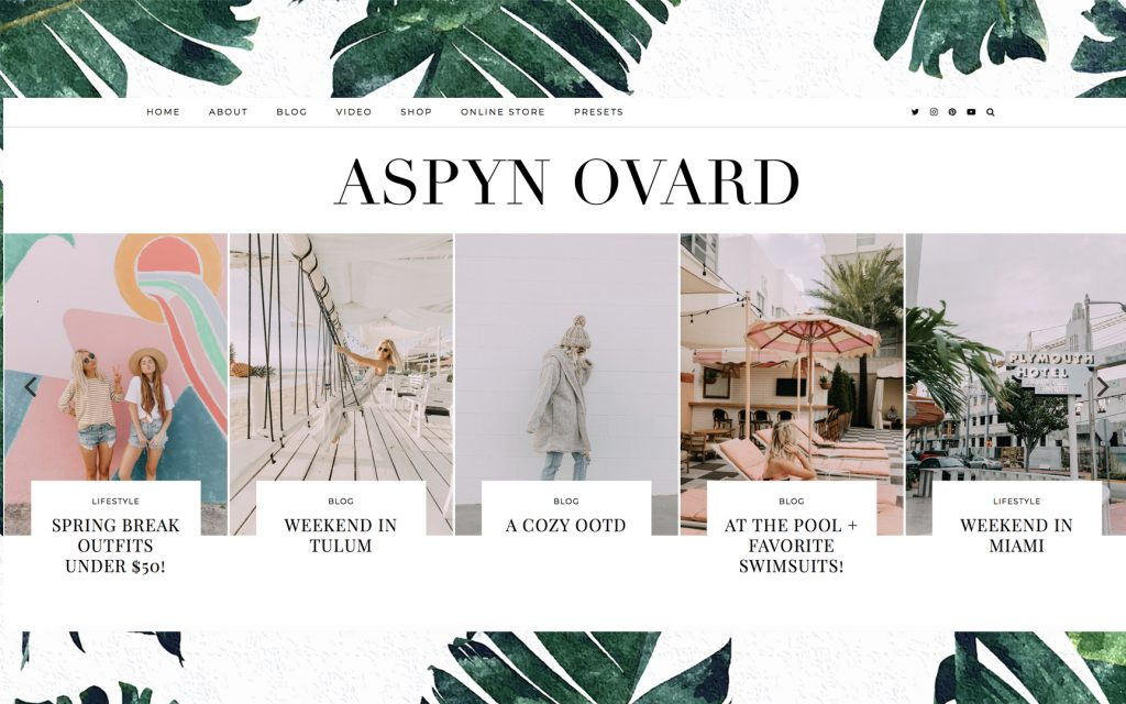 Blogs I follow: Aspyn Ovard