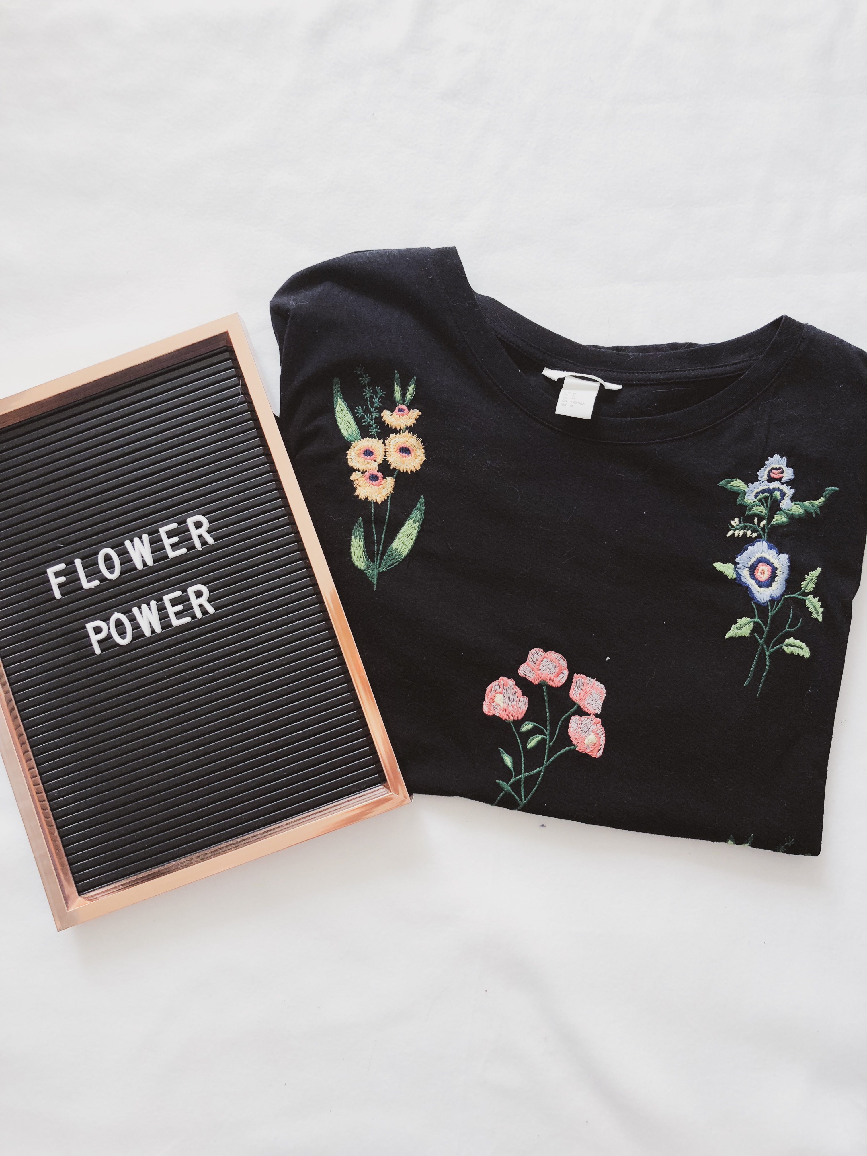 What I got in sales: Black flower t-shirt H&M