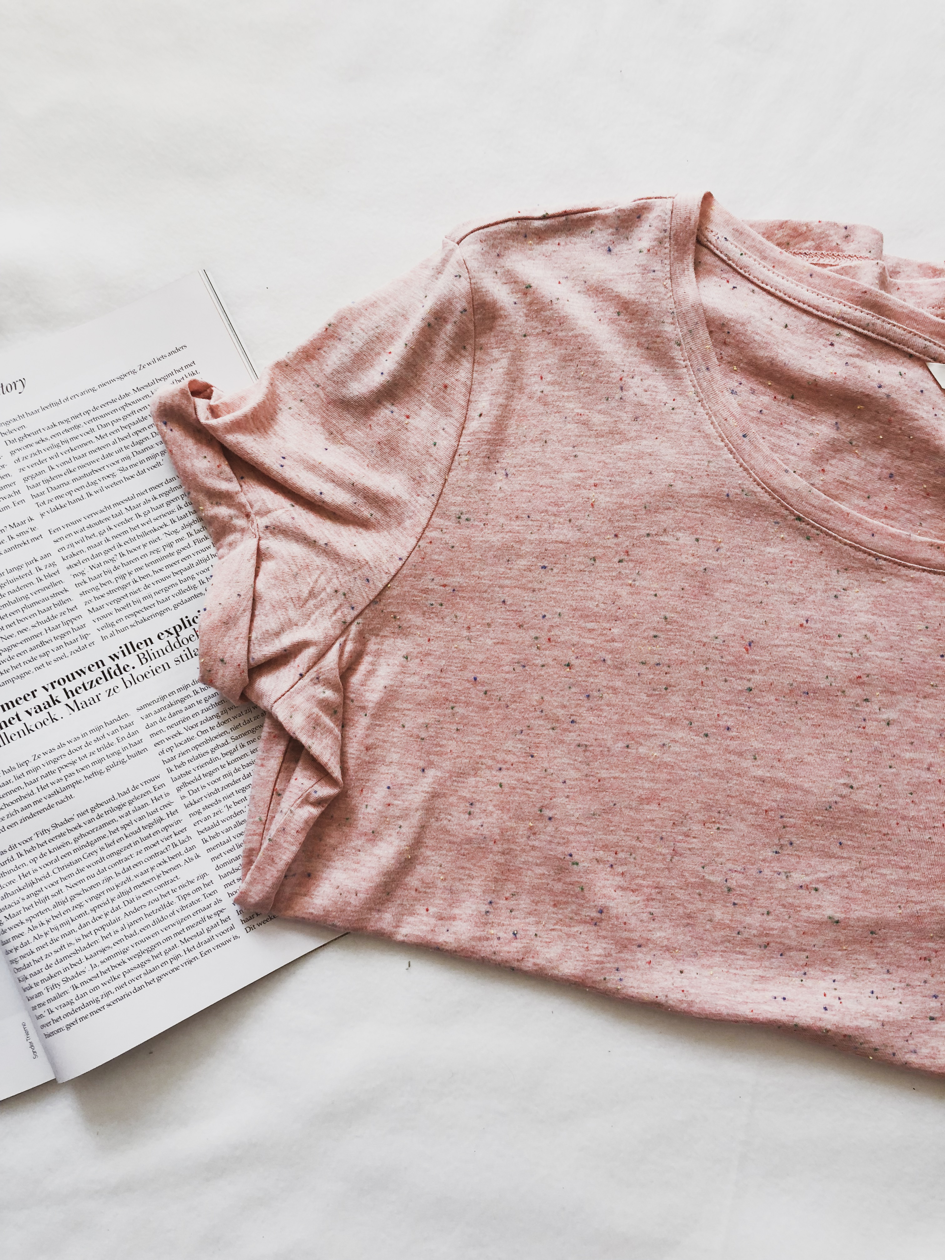 What I got in sales: Pink spotted shirt H&M