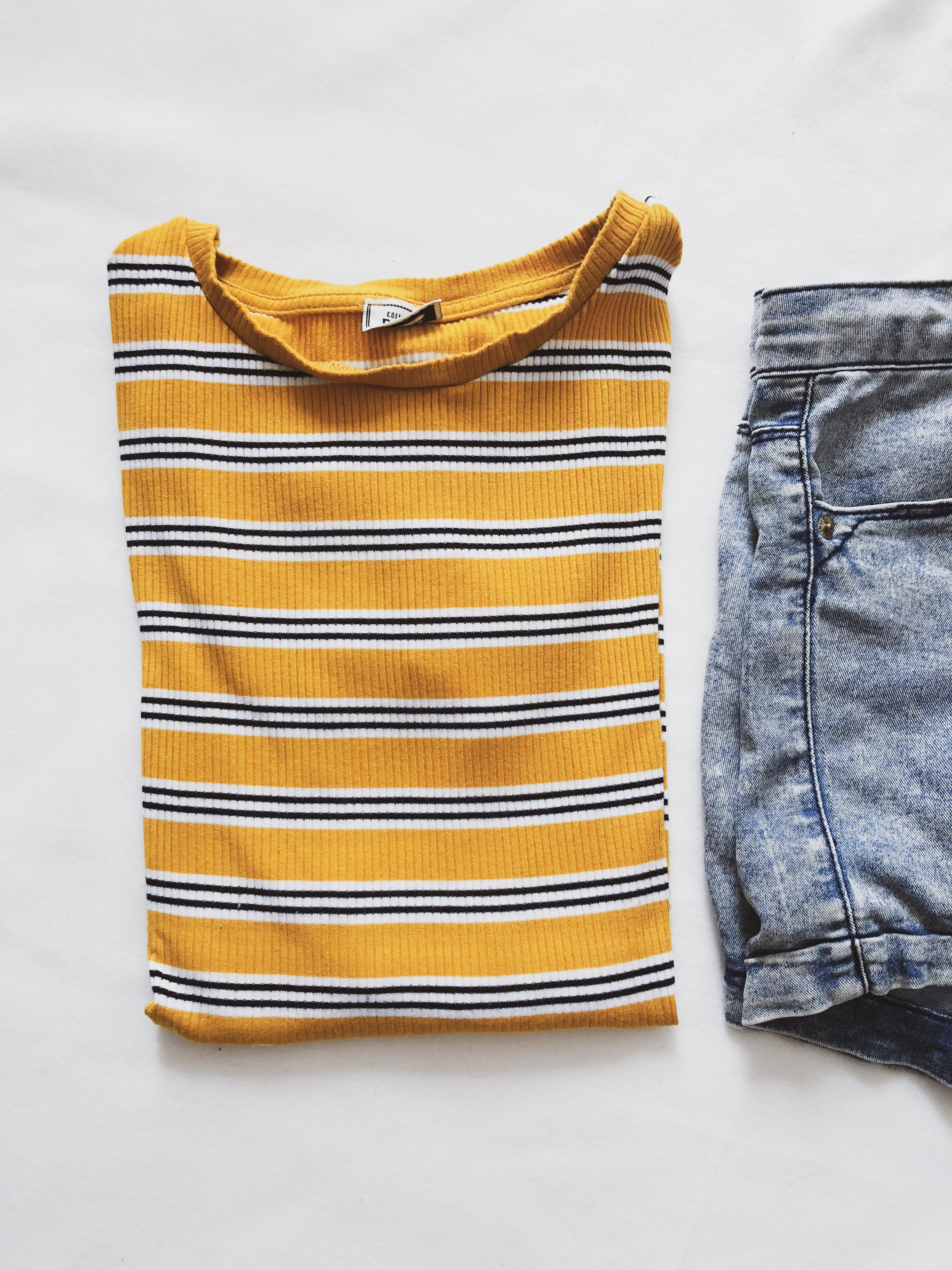 What I got in sales: Yellow striped shirt Pinkie