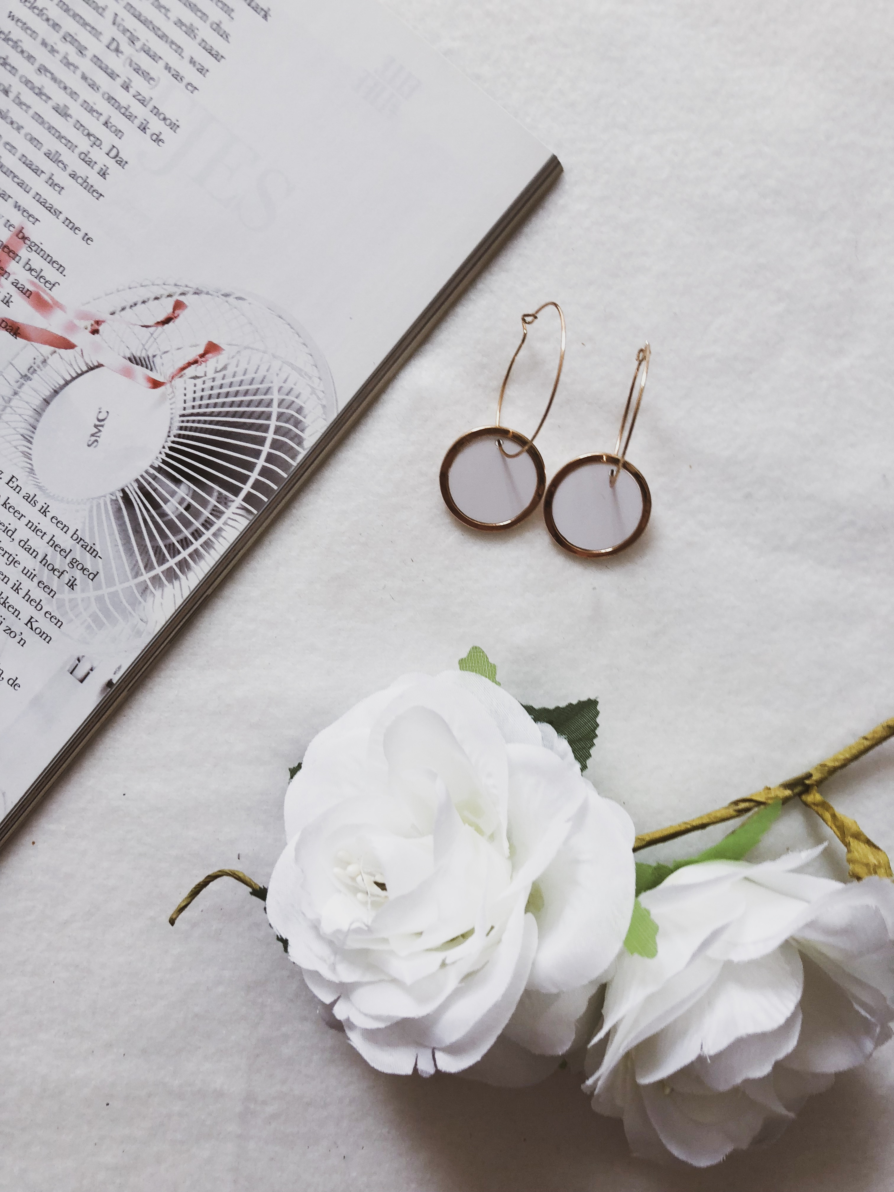 What I got in sales: Rose gold and white earrings Veritas