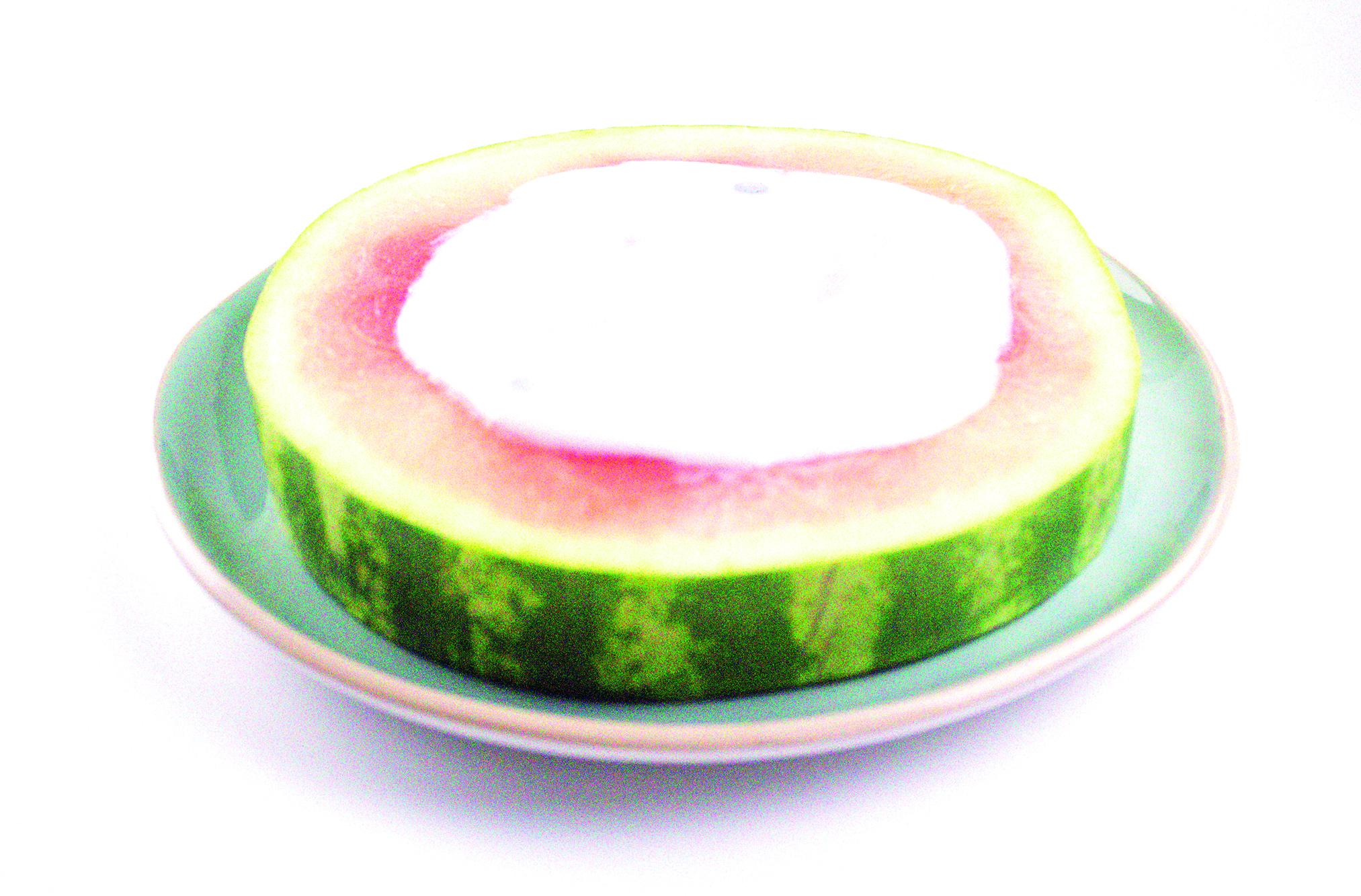 Watermelon and yoghurt