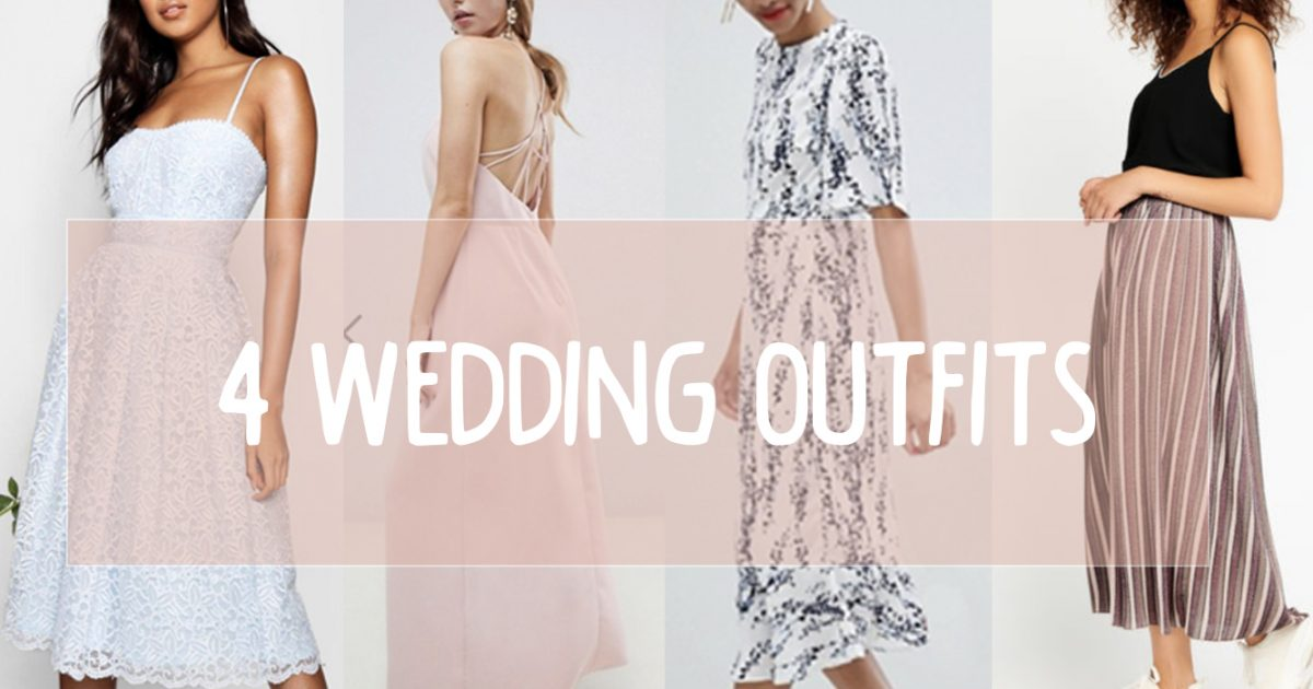 4 wedding outfits