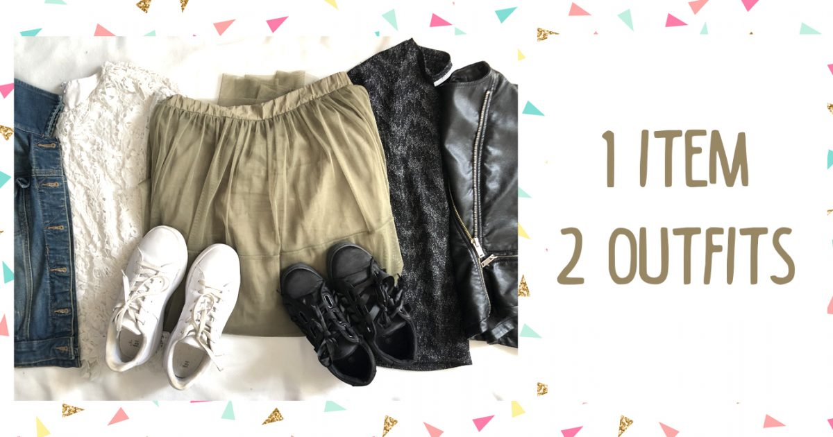 Creating 2 outfits wih 1 piece in common