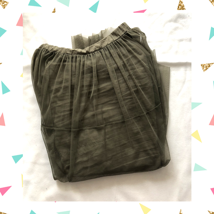 Khaki green skirt noisy may
